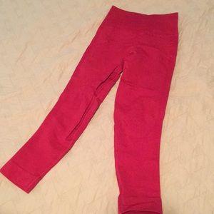 Lululemon high waist compression crop red 4